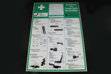 Shield Notice Sign Instructions First Aid At Unfällen Board 59,5cm x 42cm