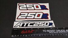 3 PIECE FENDER 1983 1984 83 84 ATC 250R HONDA DECAL STICKER EMBLEM