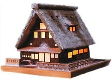 Woody JOE Wooden Building Model Kit No.1 A House with a Steep Rafter Roof Snow