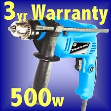 Silverline 500w Hammer Drill Driver masonry electric power impact