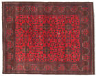 """Vintage Hand-Knotted Carpet 5'1"""" x 6'5"""" Traditional Oriental Wool Area Rug"""