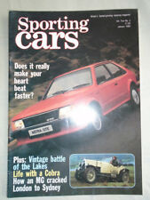 Sporting Cars Jan 1984 Astra GTE, Fiat X1/9