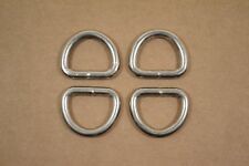 "Dee Ring - 3/4"" - Nickel Plated - Heavy Weight - Wire Welded - Pack of 24 (F400)"