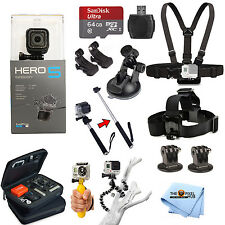 GoPro HERO5 Session All In 1 PRO Accessory KIT Bundle w/ SanDisk 64GB