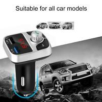 Wireless In-Car Bluetooth FM Transmitter MP3 Radio Charger USB Car Adapter V8O6