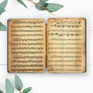 Vintage Music Notes Aesthetic Case For iPad 10.2 Pro 12.9 10.5 9.7 Air 3 Mini