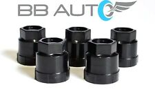 5 NEW BLACK LUG NUT COVERS CAPS CAMARO S10 BLAZER JIMMY SONOMA CAVALIER 10028614