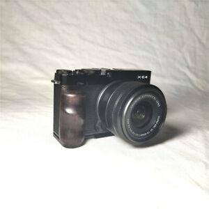 Wood Hand Grip Holder for Fujifilm X-E4 XE4 Camera QR L Plate Bracket Handmade