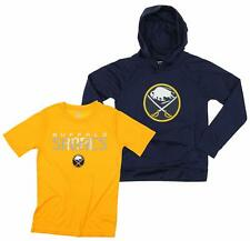 OuterStuff NHL Youth Buffalo Sabres Team Performance Hoodie and Tee Combo Set