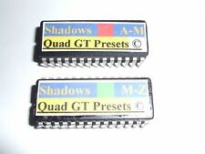 SPECIAL Quadraverb GT A to Z  90 x 2 NAMED Alphabetical Order Shadows EPROMS