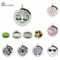 stainless 25MM Essential Oil Aroma Diffuser Twist Locket Pendant No Necklace