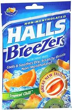 Halls Breezers Drops Tropical Chill 25 Each (Pack of 9)