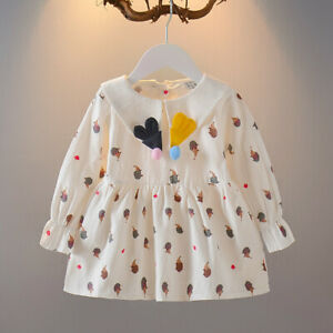 baby kids girls cute cotton dress daily casual wedding birthday party dress