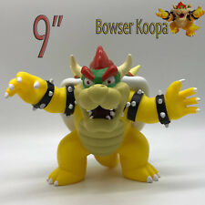 "New Super Mario Bros. Bowser Koopa Plastic PVC Figure Toy Doll  9"" BIG SIZE"