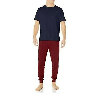 Tommy Hilfiger Cotton MENS Knit Jogger Set Sz Medium NWT NEW In BOX $60