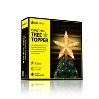Christmas Tree Topper Gold Star Decoration Xmas Tree Top Ornament Shiny Ornament