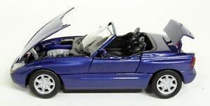 Schabak 1/43 Scale - BMW Z1 Metallic Blue / Moving parts Diecast Model Car