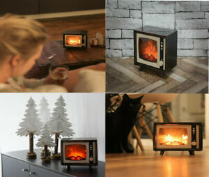 High Grade Decorate Realistic Fireplace Heater Compact Retro LED TV Moving Flame