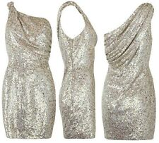 AllSaints Velutina One Shoulder Sequin Dress, Size 10, Rare, May Ball / Wedding?