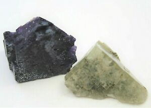 Pale Green  Fluorite from  Morocco, with a  Mauve Fluorite from USA