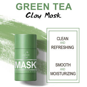 Green Tea Purifying Clay Stick Mask Oil Control Anti-Acne Fine Solid Brush
