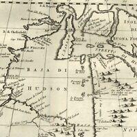 Hudson Bay Quebec Ontario Canada Bellin 1781 rare Italian version James Bay