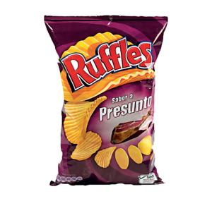 Portuguese Ruffles Presunto Chips (Jamon / Ham ) Lot of 2 - Product of Portugal