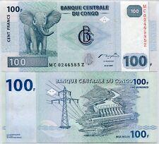 CONGO 100 FRANCS 2007 P 98 REPLACEMENT MC-Z UNC