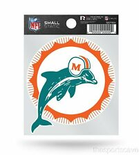 Miami Dolphins Retro Logo Static Cling Sticker NEW!! Window or Car!
