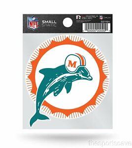Miami Dolphins Retro Logo Static Cling Sticker NEW!! Window or Car!