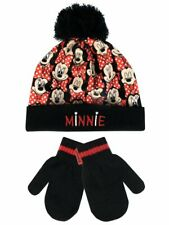 Brand New in Packaging Girls Disney Minnie Mouse Winter Hat & Gloves Set Age 4-6