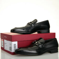 Salvatore Ferragamo Dinamo Black Leather Gancini Bit Loafers - Mens 9.5 D
