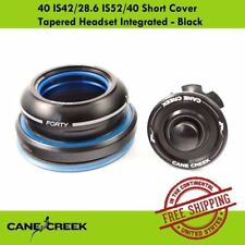 Cane Creek Tapered 40 IS42/28.6 IS52/40 Short Cover Integrated Headset - Black