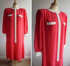 1980s Vintage Dress Princess Diana Style Power Dressing Oversized Size 10