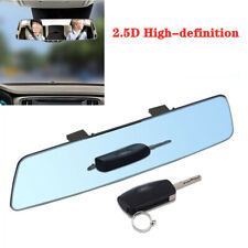 Blue Anti-Glare Rear View Flat Mirror Extension Universal Car Interior Accessory