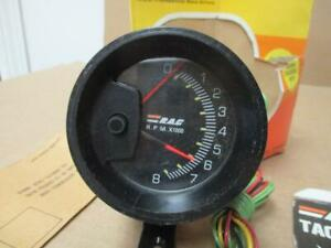 "Vintage RAC 8k Tachometer 2 11/16"" Pedestal Dash Mount NOS!  Chevelle Camaro"