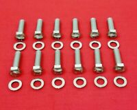 SBC CHEVY INTAKE MANIFOLD BOLTS KIT STAINLESS STEEL 283 305 327 350 400 TPI HEX
