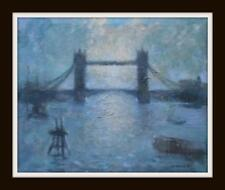 London Tower Bridge : Impressionist Oil Painting on Canvas  : Mark Coombs