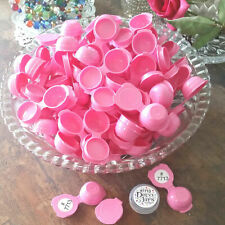 12 Tiny Sample pink Empty Plastic Flip Top 7713 Powder  Herb Container DecoJars