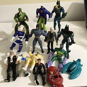 VTG Action Figures Big Lot Of 14 Marvel Kenner Bluebird Bandai Playmates 80s 90s