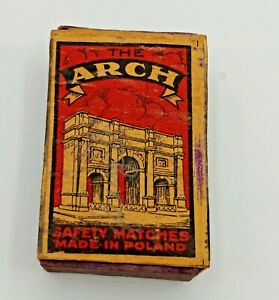 Antique Polish Wooden Matchbox Safety Matches Empty WW I/WW II Era