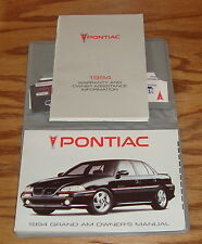 Original 1994 Pontiac Grand Am Owners Operators Manual First Edition 94