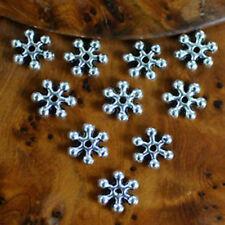 """10 Perles Spacers Rondelles """"FLEUR""""  Métal ARGENTE 8 MM"""