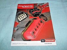 2016 FORD MOTORCRAFT WIRING PIGTAIL KITS IDENTIFICATION GUIDE MANUAL 48 PAGES