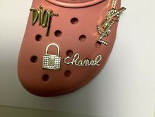 Gift for her! 4 pc Premium Shoe charms Compatible W/ Crocs Fancy Bling Jewelry B