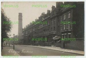 OLD POSTCARD CHEYNE GARDENS CHELSEA LONDON REAL PHOTO VINTAGE USED 1927