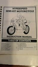 Vintage RC Hyperspeed Semi-Kit Motorcycle By Royal Instruction Manual
