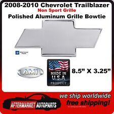 2008-2010 Chevy Trailblazer Polished Aluminum Bowtie Grille Emblem AMI 96073P