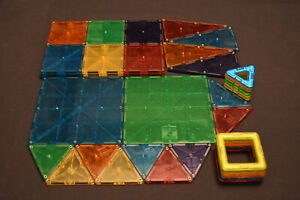 Magna Tiles (33) + Magformers (12) Magnetic Building Toy Lot - 45 PIECES TOTAL!