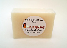 Handmade Soap Bar Old Fashioned Lye Soap w/Coconut Oil & More Natural & Organic